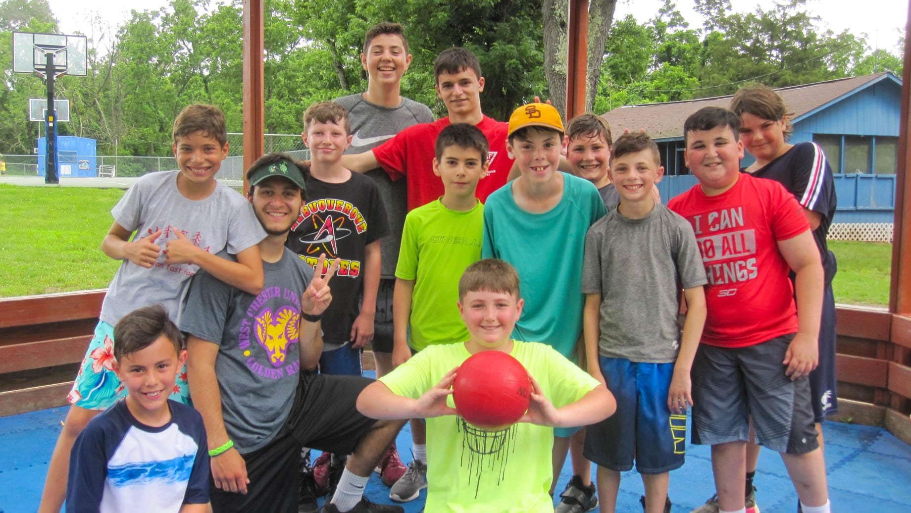 Upper camp boys at sports